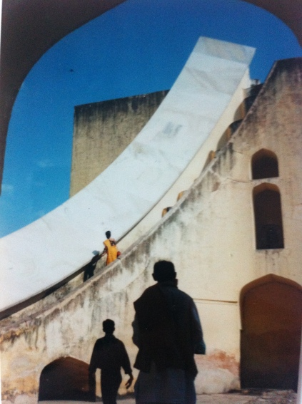 Jantar Mantar, an astronomical observation site, in Jaipur, India