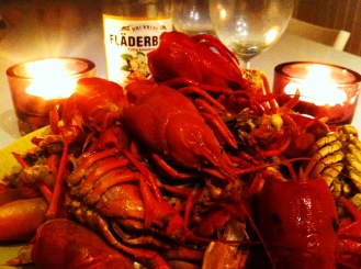 Crayfish and Elderflower cordial the perfect summer meal.