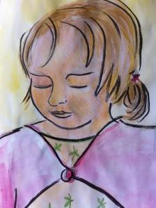 Portrait of Frida, aged 2.