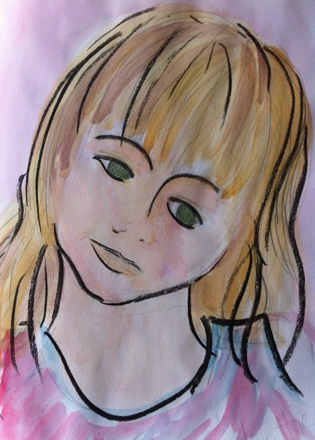 Portrait of Lottie, aged 4.