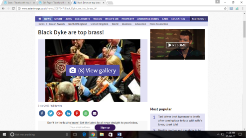 Article about the Black Dyke Band for the Telegraph and Argus Newspaper