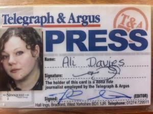 Tand A press pass