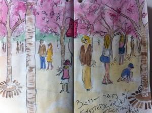 Blossom Trees in Kungsträdgården, Stockholm