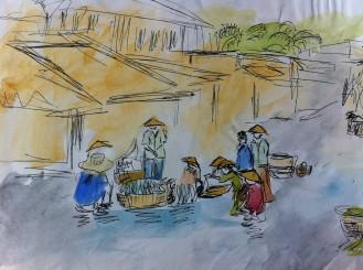 Fish Market in Hoi An, Vietnam.
