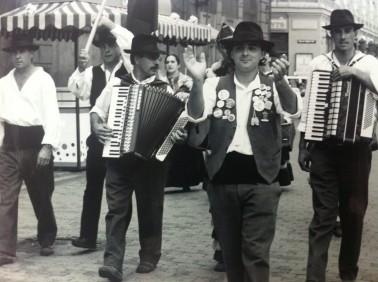 Musicians at Europeade the European Folk Festival in Riga, Latvia.