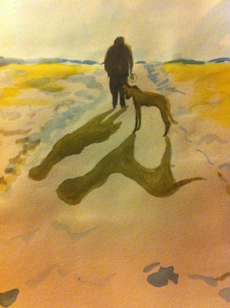 A wintery walk with Vera and Baron in Baldock, Hertfordshire.