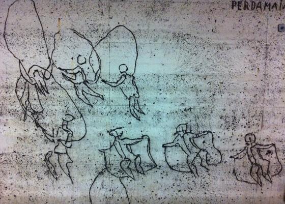 Siri Derkert's art at Östermalmstorg tunnelbana