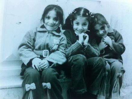 Three little girls from Arwad Island, near Tartous, Syria.