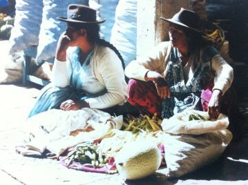 Market sellers in Sucre, Bolivia.