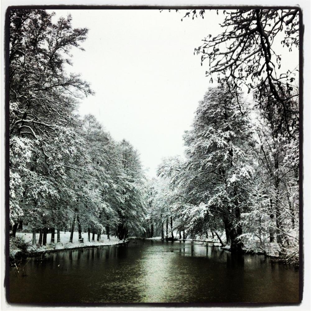 A snowy walk along Åkers Canal, Åkersberga, Sweden.