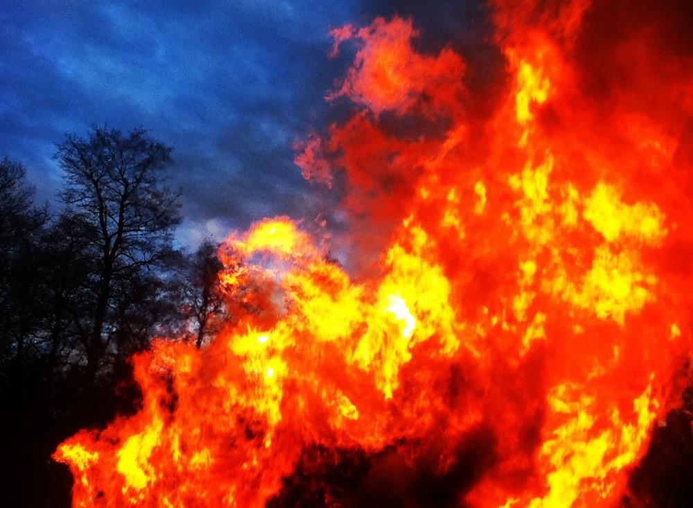 Valborg Bonfire in Ekbacken, Åkersberga Sweden.