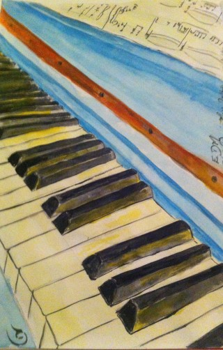 A piano and some sheet music