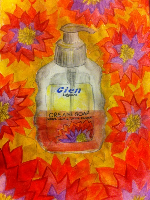 Every Day in May 2014 #17 Draw a jar of hand soap.