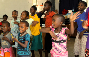 Dancing on International Day of the Girl Child at Isamilo International School, Mwanza, Tanzania.