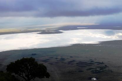 The Ngorogoro Crater Lake at dawn, Tanzania.