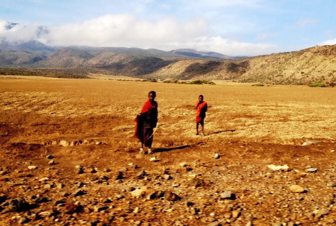 Masai children in the Ngorogoro Conservation Area, Tanzania