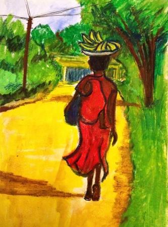 Coming home from market in Mwanza, Tanzania.