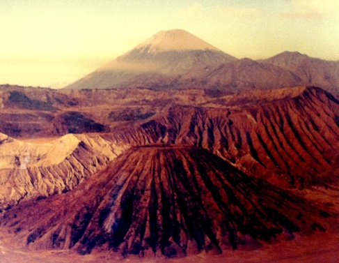 Sunrise over Mount Bromo in East Java.