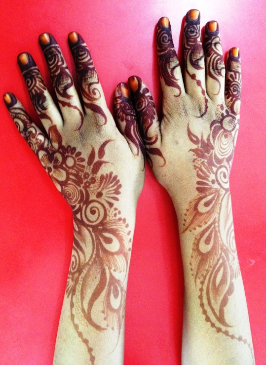 Nasra's beautiful mehndi hands