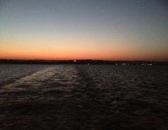 Dawn over Mwanza on the car ferry on my way to Rwanda