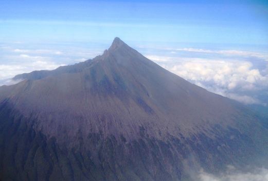Mount Meru from the air