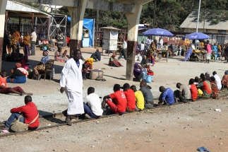 Waiting at Tabora station - On the train from Mwanza to Dar Es Salaam, Tanzania.
