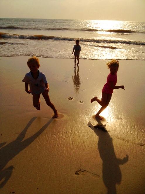 A walk on the beach at sunrise, Jangwani Beach, Dar Es Salaam.