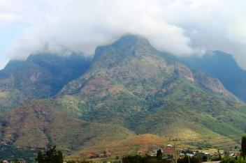 The Uluguru Mountains in Morogoro - On the train from Mwanza to Dar Es Salaam, Tanzania.