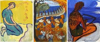 Charlotte Salomon's paintings from her Life or Theatre collection.