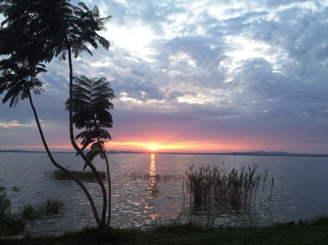 Sunrise over Lake Victoria at Papa's near Mwanza, Tanzania