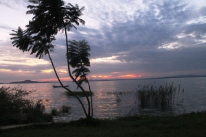 First Sunrise of 2016 on Lake Victoria, Mwanza, Tanzania.