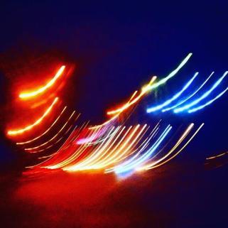Neon Lights in Downtown Dar Es Salaam, Tanzania