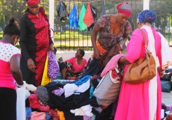 Street Market on Bibi Titi Mohammed Street in Dar Es Salaam