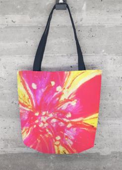 Pink Hibiscus bag design for Vida