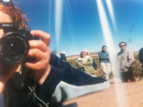 Wing-mirror portrait in the Atacama Desert, Bolivia