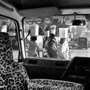 Dar es Salaam through a car window, Tanzania