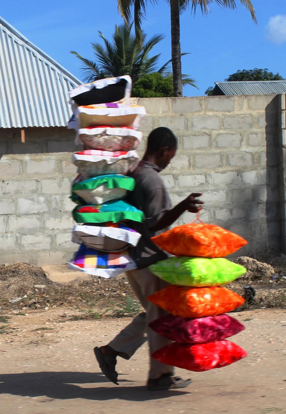 Carrying Cushions in Kigamboni, Dar Es Salaam