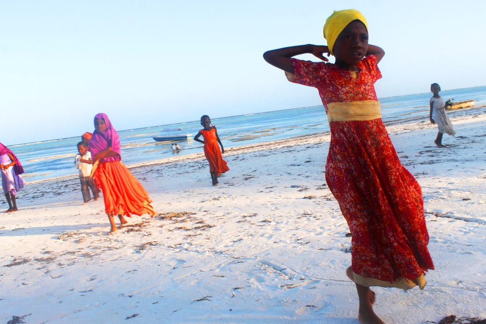 Children on Matemwe Beach, Zanzibar