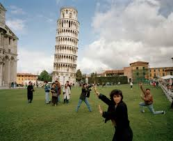 Martin Parr's photograph of tourists having their photographs taken at the Leaning Tower of Pisa