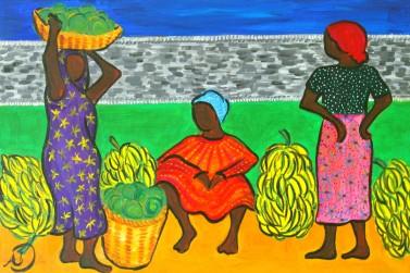Selling Bananas in Kisii, Kenya