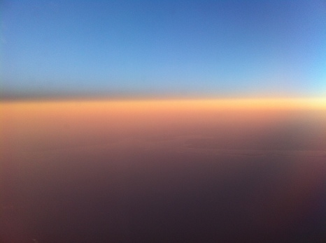 Sunrise, somewhere between Sweden and England