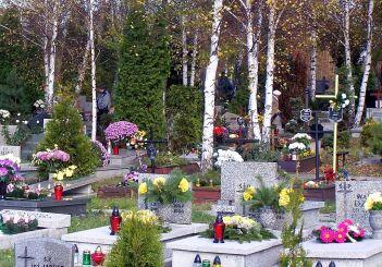 Cemetery in Katowice - always full of flowers