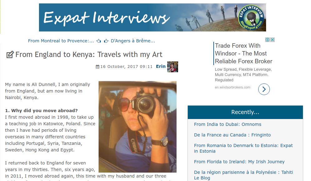 Ali Interview for interviews.blogexpat.com