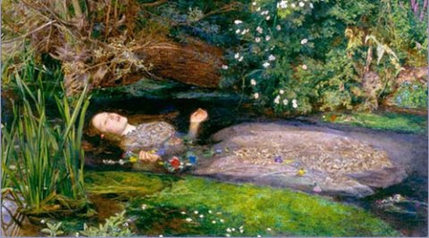 Elizabeth Siddal was the model for this painting Ophelia by Sir John Everett Millais