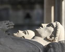 The tomb of Abelard and Heloise in Père Lachaise Cemetery, Paris France