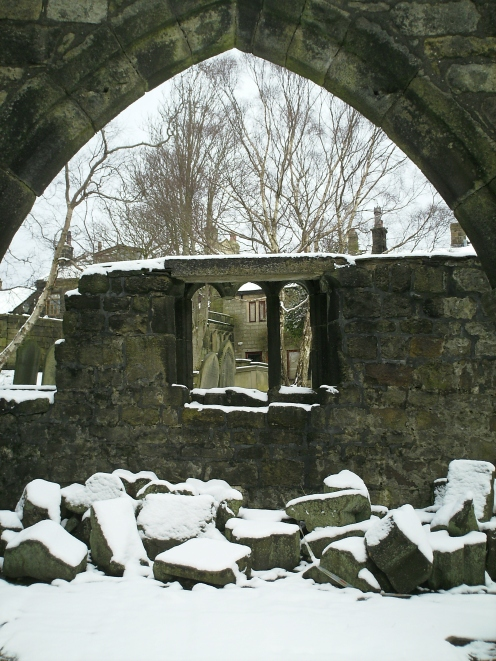 The ruins of St Thomas a Becket church in Heptsonstall