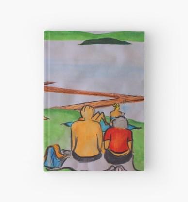 Dreaming of lazy summer afternoons on the banks of Lake Mälaren - hardback journal
