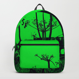 Whitby Abbey in Green - backpack