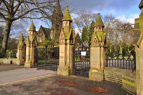 Southern Cemetery Gates in Manchester