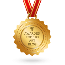 top 100 art blogs medal